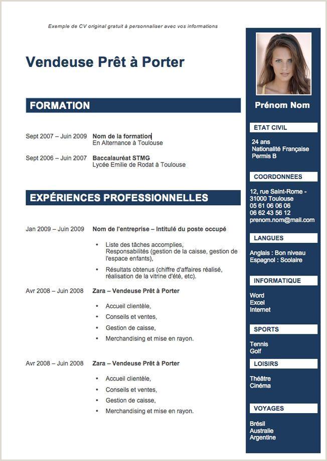 Cv Developpeur Informatique Luxe Centre Dinteret Cv Etudiant