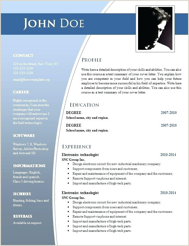 Free Traditional Elegance Resume Template In Word Format Ms