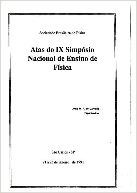 Atas do IX Simpƒ³sio Nacional de Ensino de Fƒsica Axpfep1