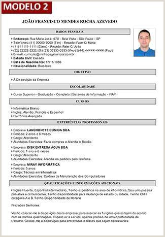 Curriculo Simples Gerador Curriculum Vitae P Preencher Modelo De Curriculum Vitae