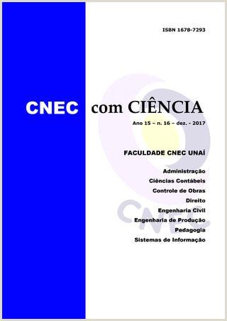Curriculo Simples Gerador Revista Cnec Ciªncia 2017 by Natanael Bruno Rodrigues