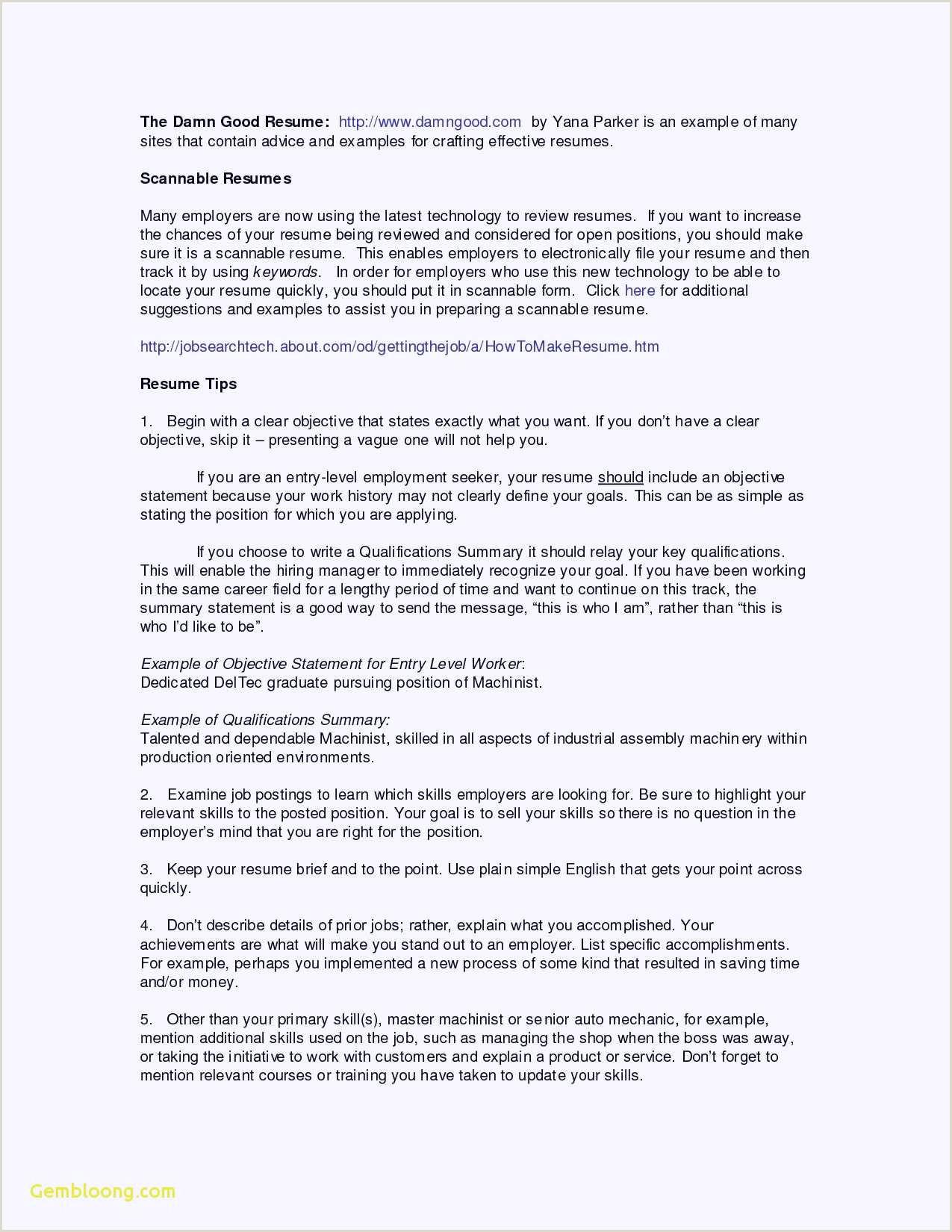 Curriculo Simples Habilidades 68 Nouveau Image De Exemple Cv Australien