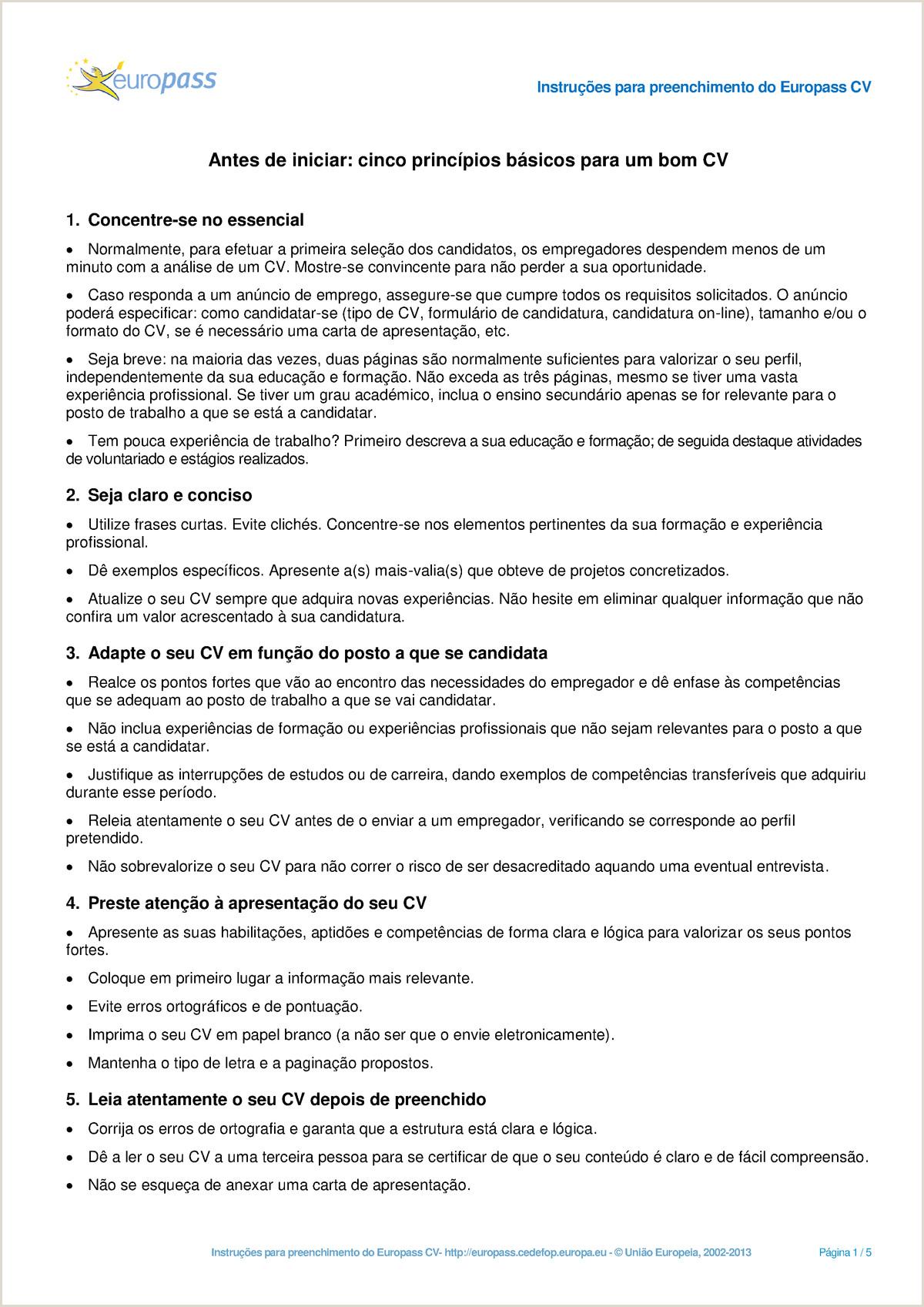CVInstructions nada Engenharia Informática 9119 StuDocu