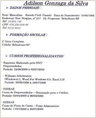 CURRICULUM DE MENOR APRENDIZ Avaré Guia Avaré Guia