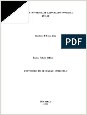 Curriculo Simples Molde Monografia Polcia