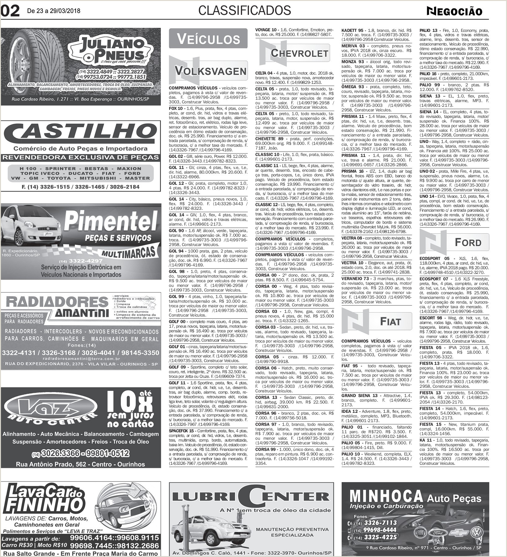 Classificados Pages 1 20 Text Version