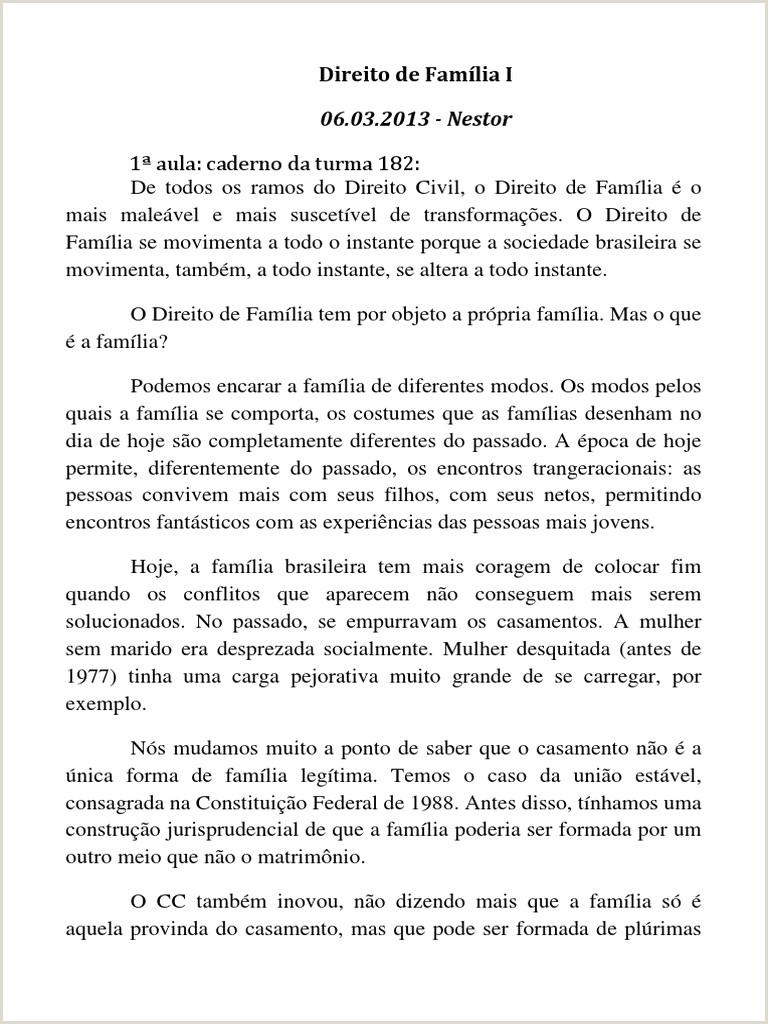 DCV0411 Direito de Famlia I Prof Giselda e Nestor