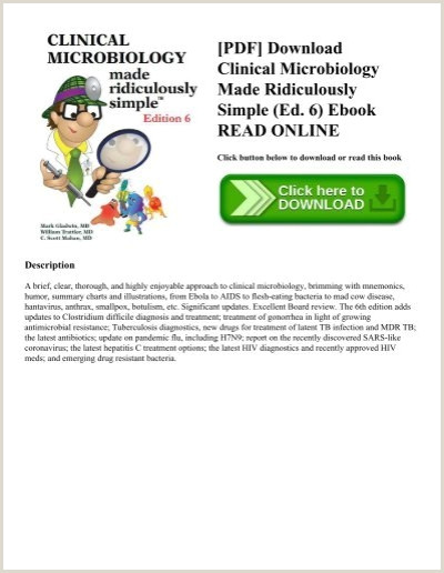 Curriculo Simples Online Com Foto Pdf] Download Clinical Microbiology Made Ridiculously Simple