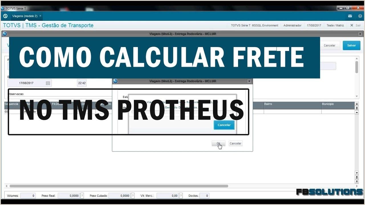 Cálculo de frete TMS Protheus