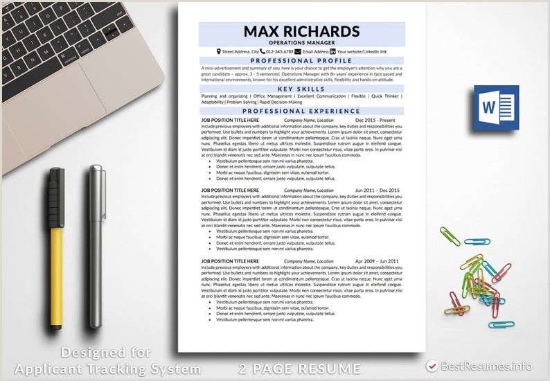 Clean Resume Resume Template Word Simple Resume Classic Resume Traditional Resume Template Business Resume Design Professional Resume