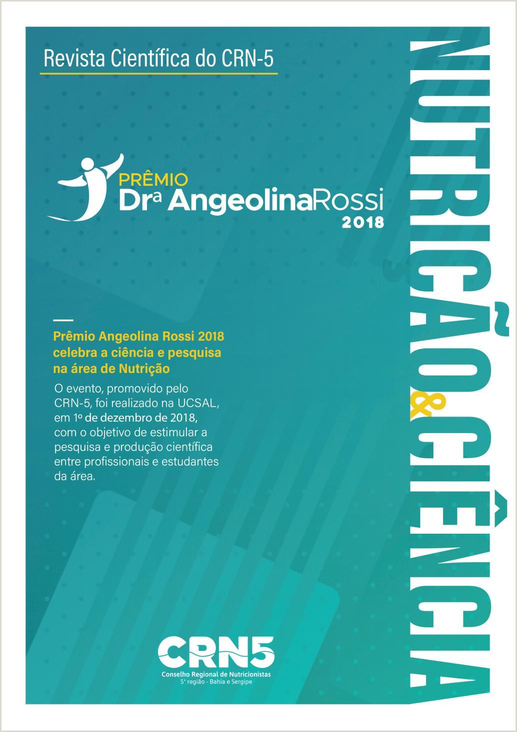 Curriculo Simples Para Estudante Revista Prªmio Angeolina Rossi 2018 by Crn 5 Conselho