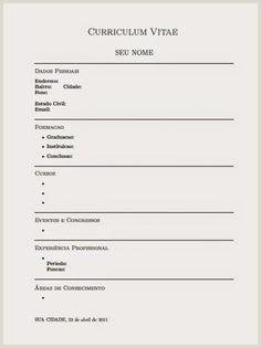 Curriculo Simples Para Imprimir 32 Melhores Imagens De Curriculo Prontos