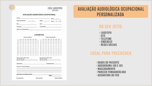 Curriculo Simples Para Imprimir E Preencher Protocolo De Audiologia Ocupacional Personalizado Fonoonline