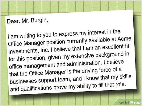 o Escrever uma Carta de Interesse para um Emprego