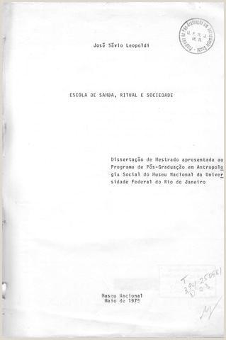 Escola de samba ritual e sociedade by Portal Academia do