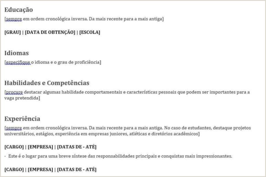 Curriculo Simples Para Primeiro Emprego Modelo De Currculo – Empregos & Cursos