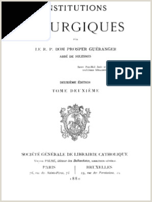 Institutions Liturgiques Tome 2 Pape