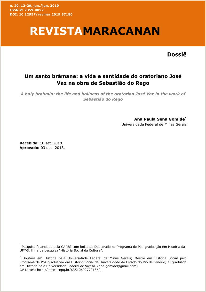 PDF Um santo br¢mane a trajet³ria do oratoriano José Vaz e