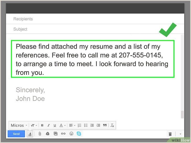 Curriculo Simples Pronto Para Editar O Enviar Um Currculo Por Email 16 Passos