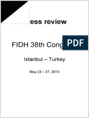 Revue de Presse Congr¨s FIDH 2013 Istanbul