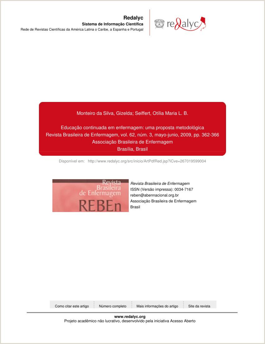 PDF Educa§£o continuada em enfermagem uma proposta