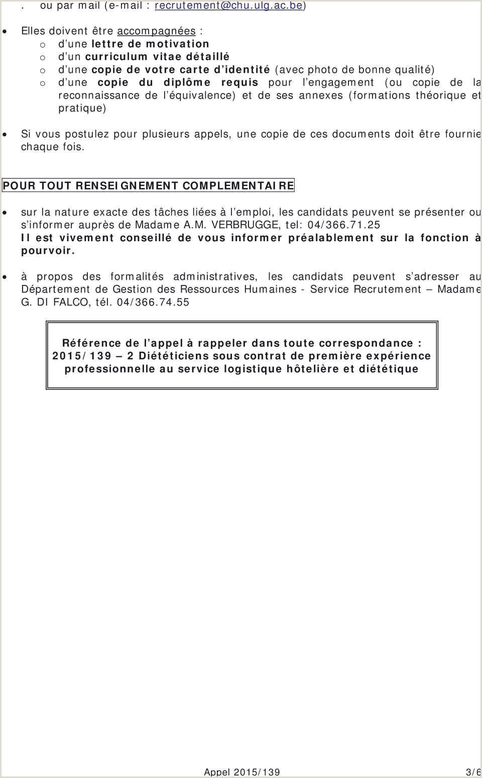 Telecharger Un Exemple De Cv Collections De Curriculum Vitae