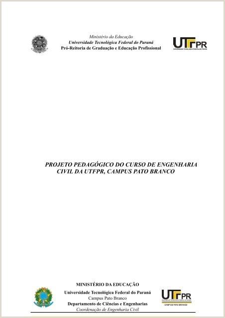 Projeto Pedag³gico do Curso de Engenharia Civil UTFPR