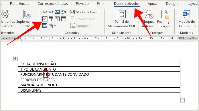 Curriculo Simples Word Para Preencher O Criar Um formulário Preenchvel No Word