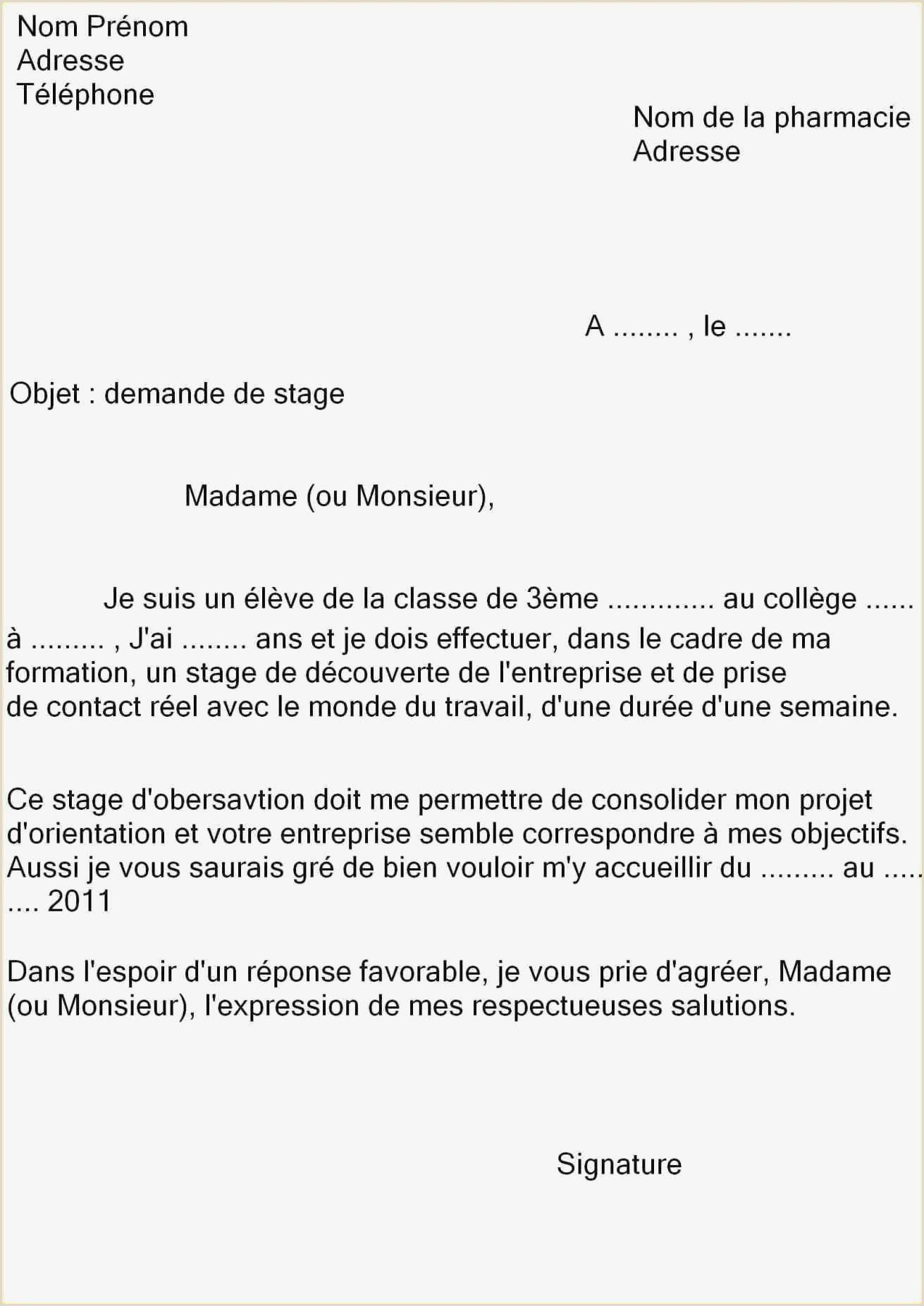 Curriculo Super Simples 55 Lettre De Cv Pour Stage 3eme