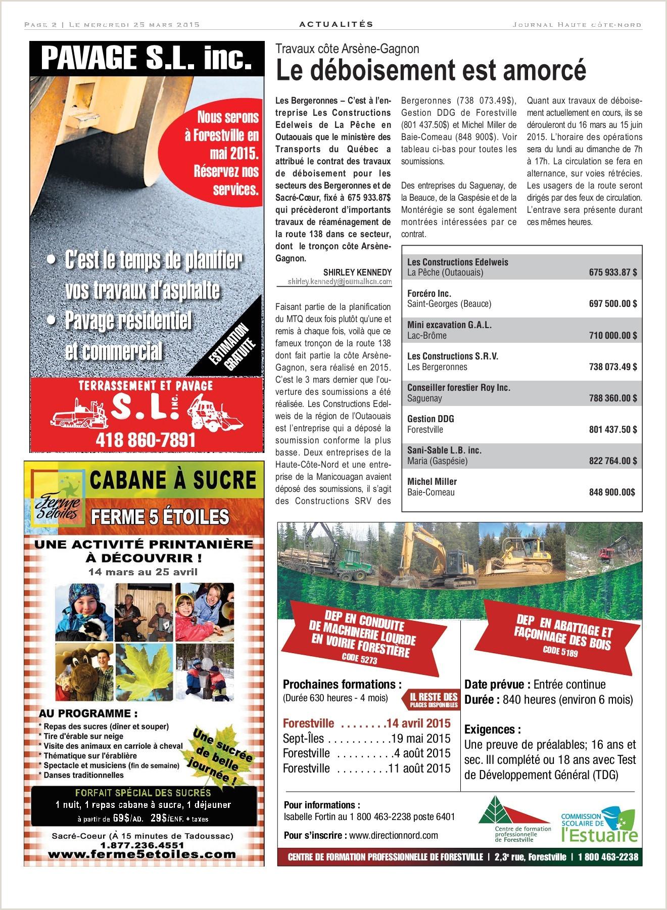 Le Haute C´te Nord 25 mars 2015 Pages 1 32 Text Version