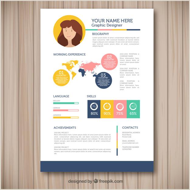 Curriculo Vitae Simples Para Imprimir Modelo De Currculo Colorido Design Plano
