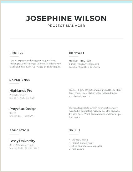 Curriculo Vitae Simples Pdf Simple Cv Template