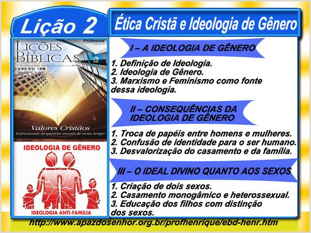 Li§£o 2 ética Crist£ e Ideologia de Gªnero