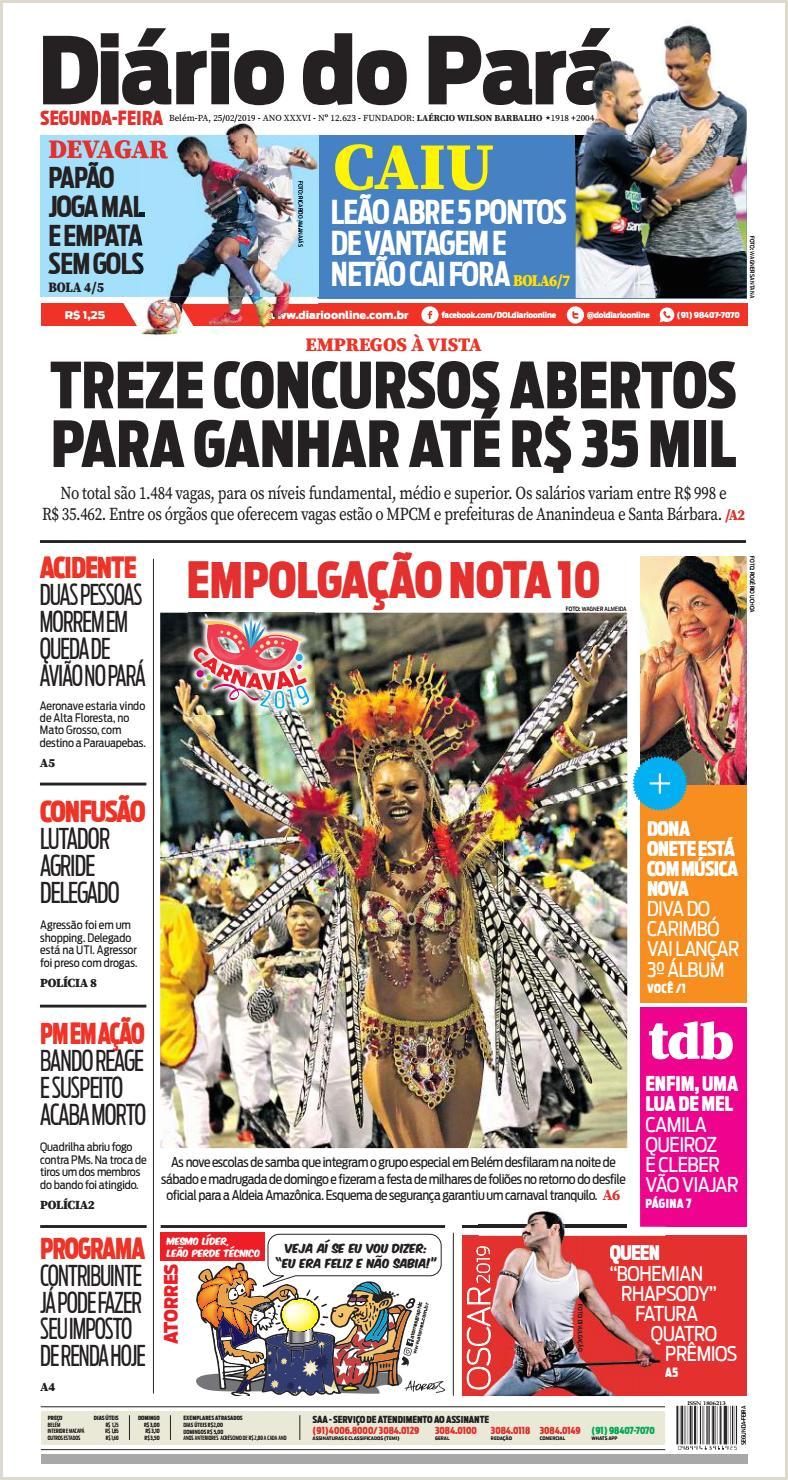 Jornal Diário do Pará Nº 12 623 by Portal Academia do Samba