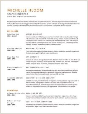 Curriculum Academico Simples Más De 400 Plantillas De Cv Y Cartas De Presentaci³n Gratis