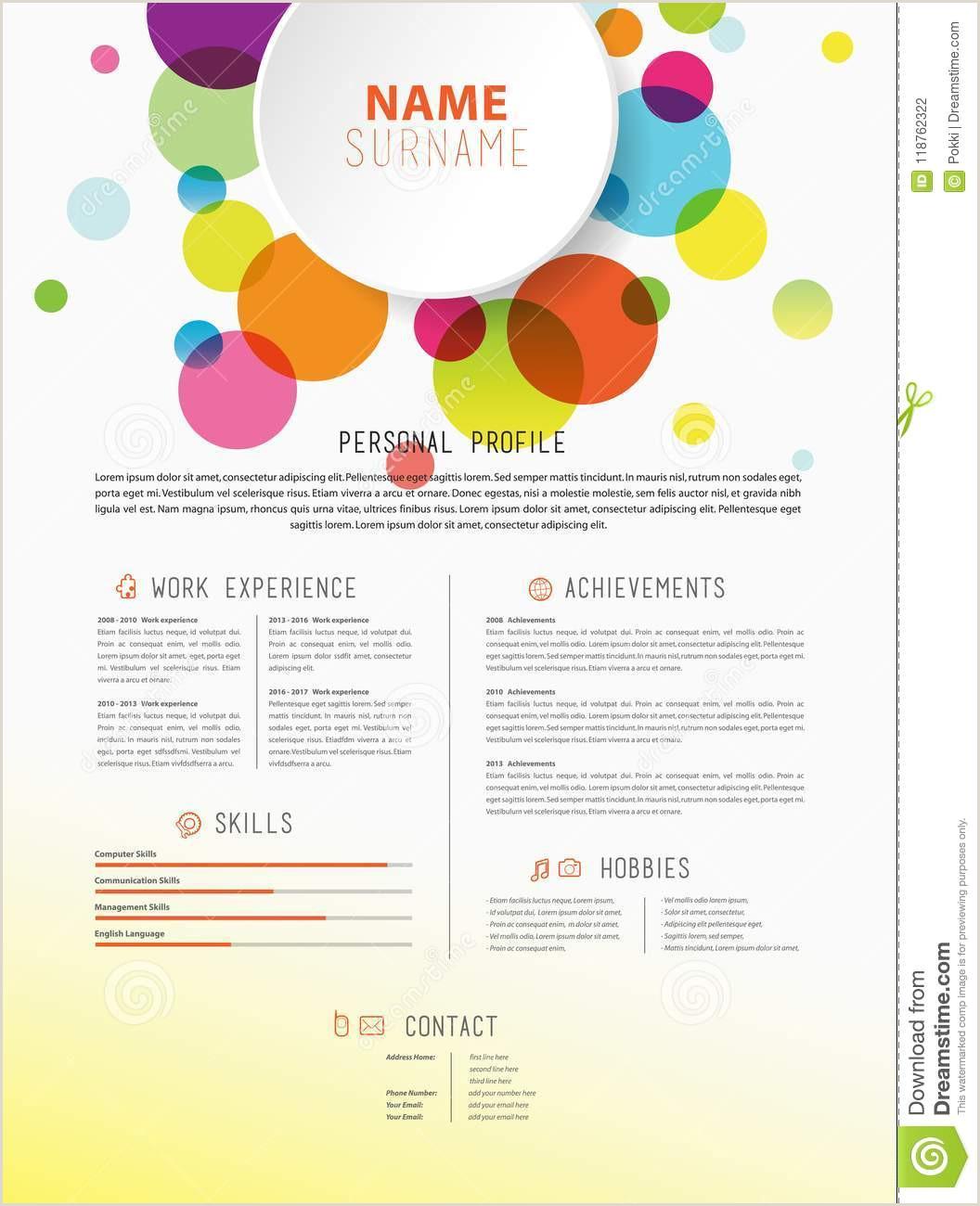 Curriculum formatos Simples Le Calibre Simple Créatif De Cv Avec Les Cercles Colorés