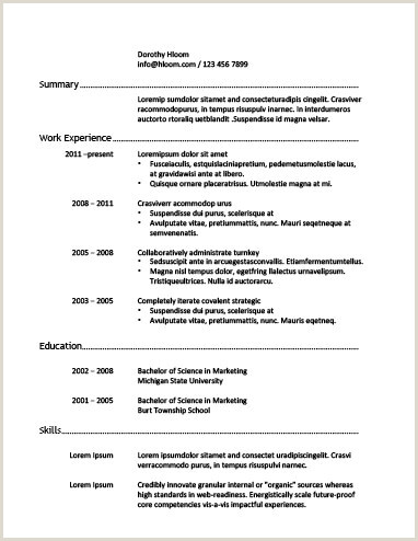 Curriculum Simples Basico 30 Mod¨les De Cv Classiques