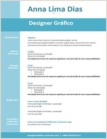 Curriculum Simples Basico 📋 Modelos De Currculo Gratuitos No formato Word 📋