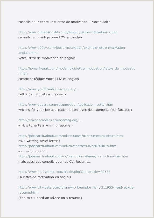 Curriculum Simples Basico Lettre De Motivation Premier Emploi Pdf 50 Modele Lettre