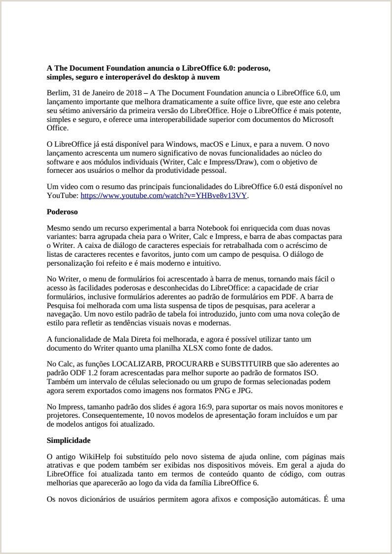 Curriculum Simples E Objetivo Wednesday Munity 4 the Document Foundation Blog