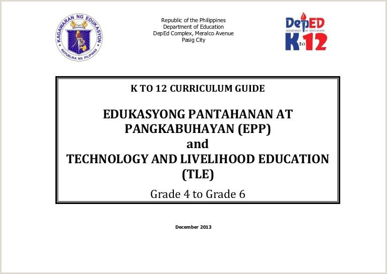 Curriculum Simples Online Edukasyong Pantahanan At Pangkabuhayan And Technology And