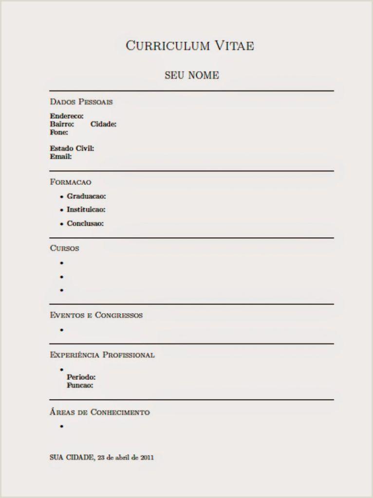 Curriculum Simples Para Imprimir E Preencher Resultado De Imagem Para Curriculo Pronto Para Preencher