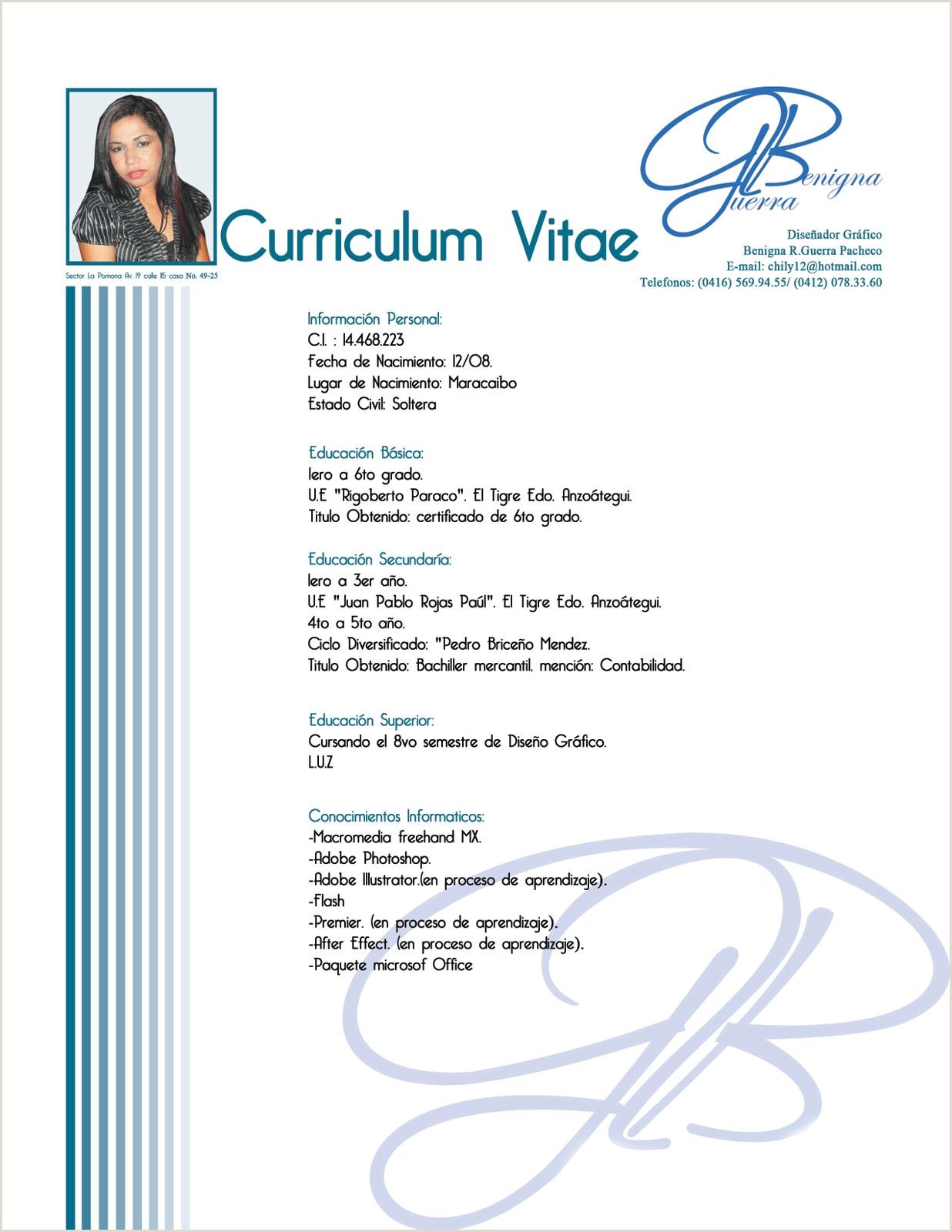 Plantillas Curriculum Vitae En Word Para Rellenar Gratis