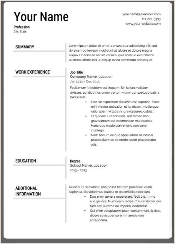 Las 12 mejores plantillas de currculum Ejemplos de Curriculum