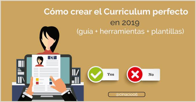 Curriculum Vitae Creativo Para Rellenar Curriculum Vitae 2019 C³mo Hacer Un Buen Curriculum