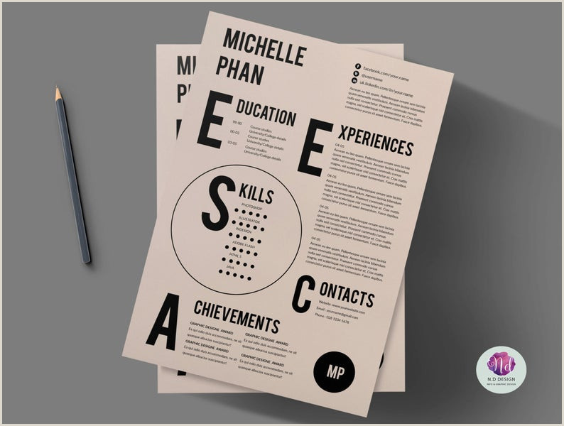 Plantilla de curriculum vitae creativa plantilla de CV plantilla de carta de presentaci³n dise±o minimalista
