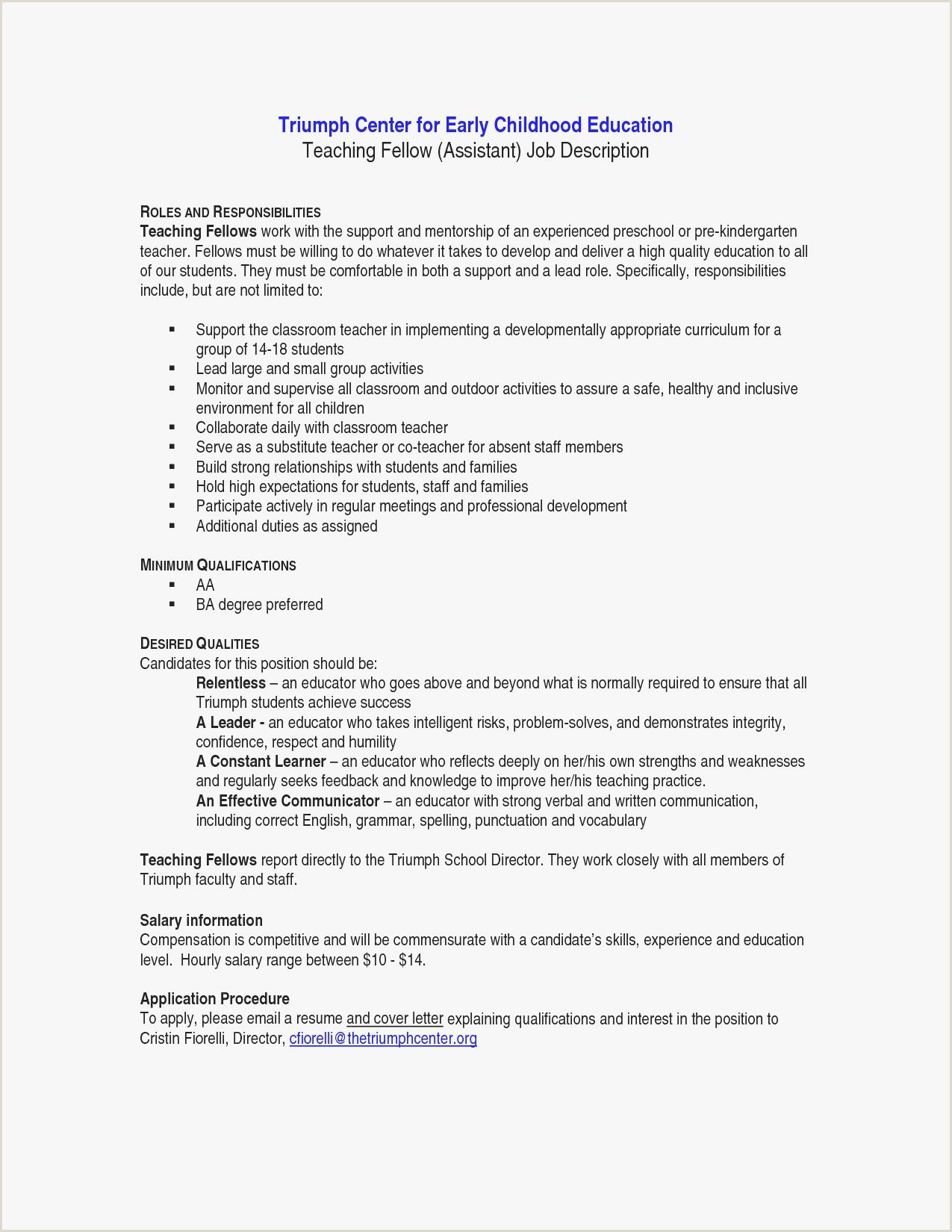 Curriculum Vitae Sample For Kindergarten Teacher New Resume
