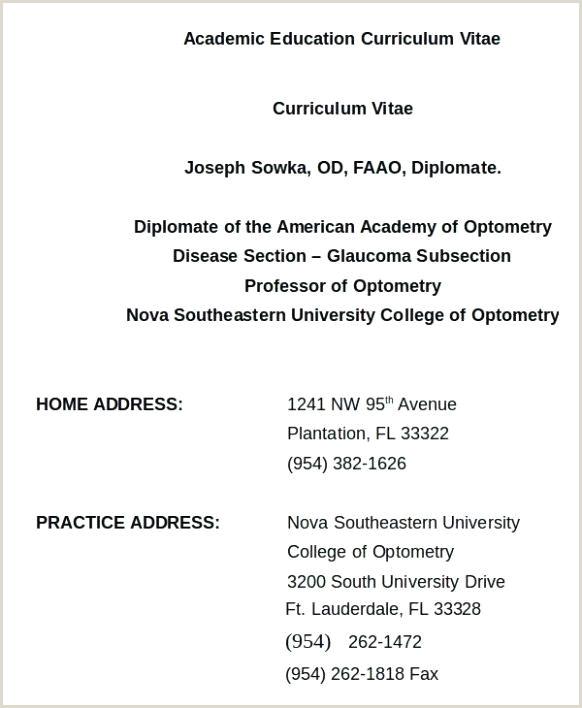 Curriculum Vitae Examples for Professors Direction Education Curriculum Vitae Template Direction