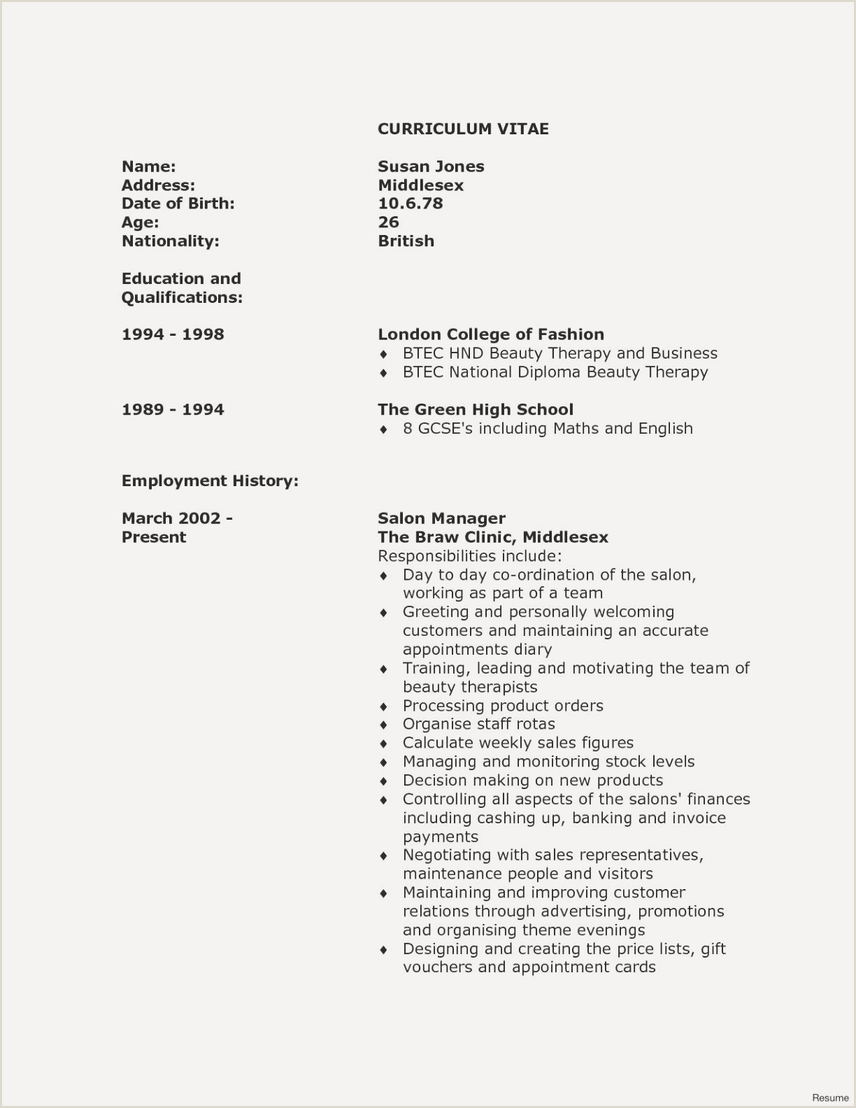 Unique Instructor Resume Samples
