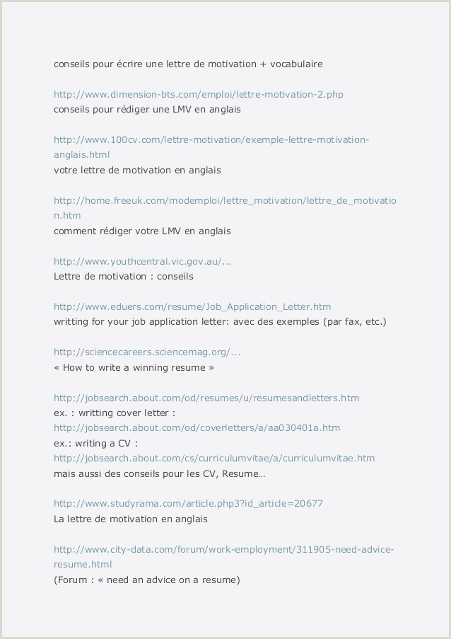 31 Lettre De Motivation Cv